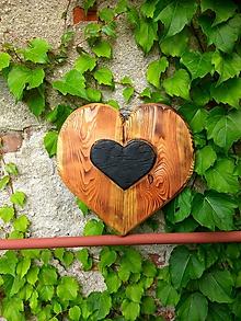 Dekorácie - Nástenné srdce -Babie leto- - 11082123_