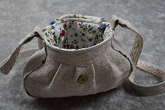 Kabelky - Ľanová kabelka malá - 11082158_