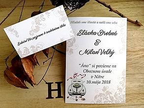 Papiernictvo - Svadobné oznámenie 22 - 11079851_