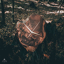 Hodiny - RAW - Akáciové drevené hodiny - 11079075_