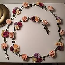 Ozdoby do vlasov - Kvetinový pletenec/venček - 11082181_