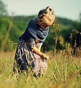 Detské oblečenie - Lněná sukně Lila (110) - 11079946_