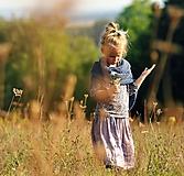 Detské oblečenie - Lněná sukně Lila (110) - 11079947_