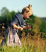 Detské oblečenie - Lněná sukně Lila (110) - 11079950_