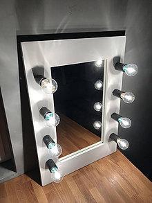 Zrkadlá - Svietiace zrkadlo na stôl 70x50cm - 11079741_