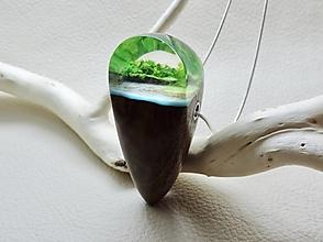 Náhrdelníky - Drevený náhrdelník - Kvapka dovolenky - 11080969_