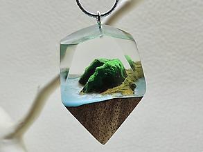 Náhrdelníky - Drevený náhrdelník - Exotický ostrov - 11081027_