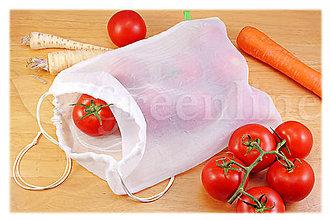 Úžitkový textil - Nákupné vrecko na ovocie a zeleninu - 11080175_