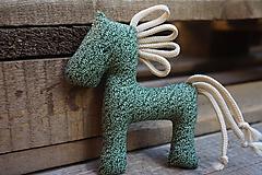 Hračky - koník ... zelený - 11079848_