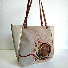 """Veľké tašky - Kabelka """"...škorica a krém..."""" - 11081883_"""