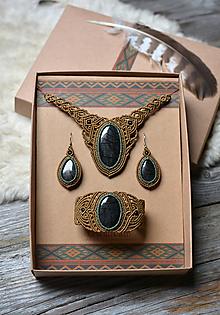 Sady šperkov - Sada šperkov Jaspis •Tajnými chodníčkami• - 11079908_