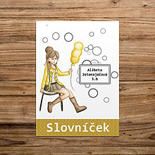 Papiernictvo - Slovníček Dievča s balónom 1 - 11079904_