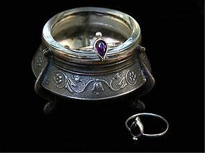 Prstene - Strieborný prsteň Bohynky - 11084963_
