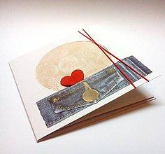 Papiernictvo - Pohľadnica ... valentínka - 11085840_