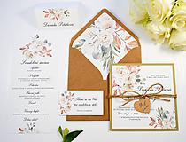 Papiernictvo - Svadobné oznámenie Aurelia so špagátikom - 11084782_