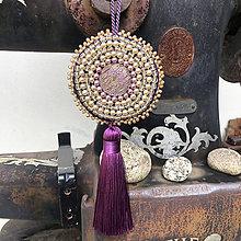 Dekorácie - ozdoba fialový ornament - perlička no.123 - 11083153_