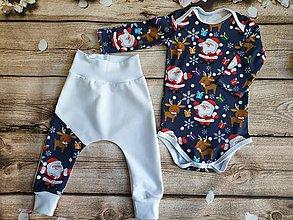Detské súpravy - Vianočné body a tepláčiky - 11085044_