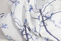 Textil - FLORAL prikrývka - Kvitnúce halúzky - 11085700_
