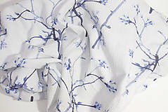 Textil - FLORAL prikrývka - Kvitnúce halúzky - 11085703_