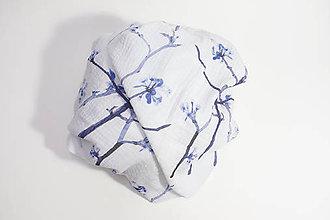 Textil - FLORAL prikrývka - Kvitnúce halúzky - 11085701_