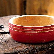 Nádoby - Jaseňová miska červená Ø20,5/7,5 - 11085150_