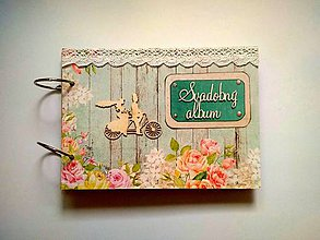 Papiernictvo - Fotoalbum svadobný * kniha hostí * album A5 - 11084112_