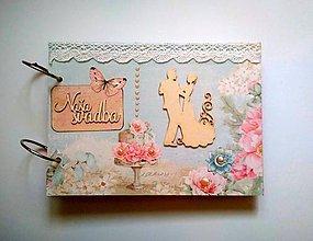 Papiernictvo - Vintage svadobný album * kniha hostí A5 - 11084125_
