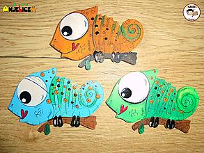 Magnetky - Magnetka - chameleon - 11084242_