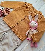 Detské oblečenie - Horčicový kardigán - 11084335_