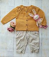 Detské oblečenie - Horčicový kardigán - 11084336_
