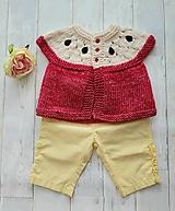 Detské oblečenie - Jabĺčkový kabátik - 11084834_