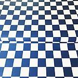 Textil - modrá šachovnica, 100 % bavlna, šírka 160 cm - 11084618_