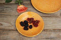 Nádoby - Dezertný tanier - šafránová kolekcia - 11086127_