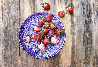 Nádoby - Plytký tanier - levanduľová kolekcia - 11086145_