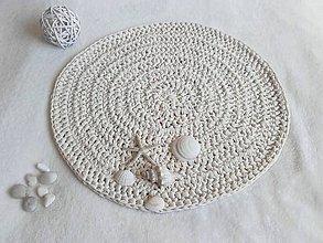 Úžitkový textil - Háčkovaný koberček FARMHOUSE okrúhly - 11084693_