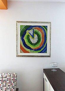 Obrazy - maľba na hodvábe-obraz ČAS ZEME - 11084771_