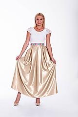 Folklórna MAXI sukňa s vreckami