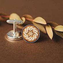 Šperky - manžetové gombíky (hviezda natur) - 11085500_