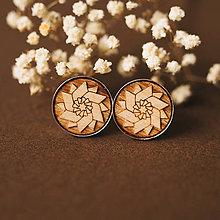 Šperky - manžetové gombíky (vrtuľka natur) - 11085504_
