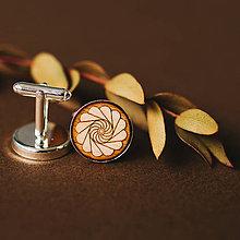 Šperky - manžetové gombíky (kvetinka natur) - 11085510_