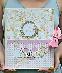 Papiernictvo - Karisblokový fotoalbum pre dievčatko - 11083334_