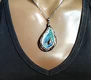 Náhrdelníky - Keramický šperk  zo sklom - Kvapka - 11085967_