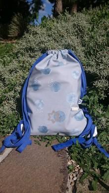 Batohy - Detský vak dAdKa  (Modré bodky) - 11084371_