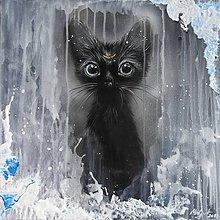 Obrazy - mačička -čertík - 11084187_