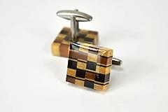 Šperky - Manžetové gombíky drevené - End grain - 11085599_