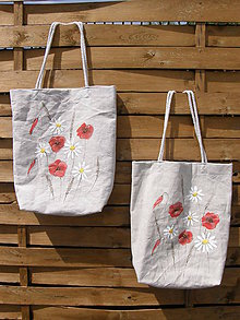 Nákupné tašky - Nákupná taška lúčne kvety - 11084597_