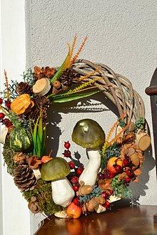 Dekorácie - Jesenný veniec - 11086374_