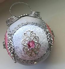 Dekorácie - Vianočná guľa ružová - 11084462_
