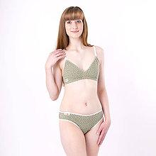Bielizeň/Plavky - Trojuholníková podprsenka z bio bavlny GOTS - zelená - 11086020_