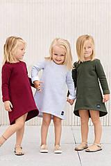 Detské oblečenie - ŠATY CUTE WINTER (80 - Bordová) - 11085467_